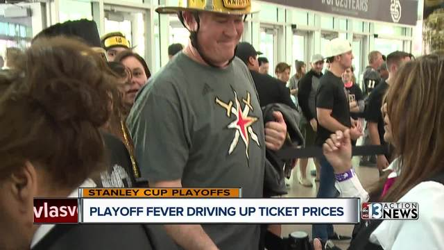 Golden Knights ticket prices on the rise as playoff fever spreads