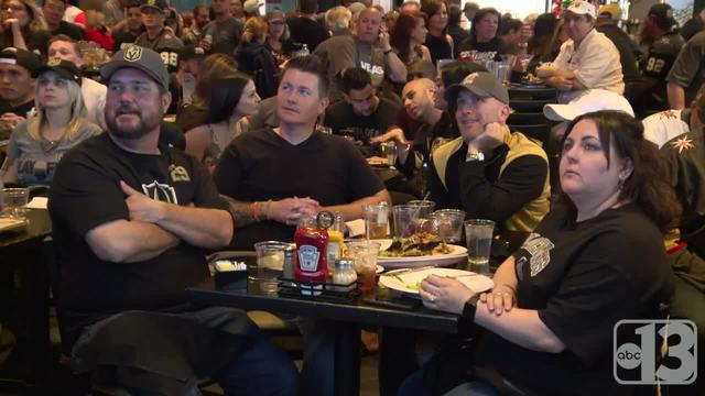 Golden Knights fans cheer on team from City National Arena watch party