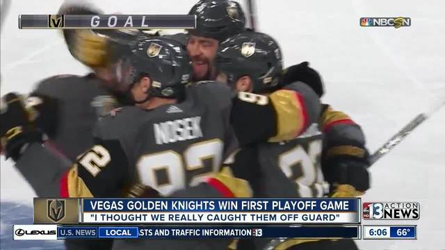 Golden Knights players get ready for Game 2