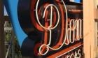 Downtown Las Vegas Events Center's new neon sign