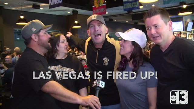 Vegas Golden Knights fans are fired up for the playoffs
