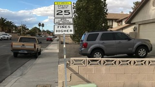 Wind topples speed limit sign, damages property