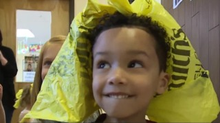 Preschoolers go green with fashion show