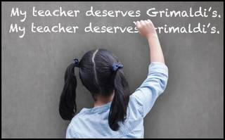 Grimaldi's to recognize teachers with discounts