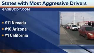 Study: States with most aggressive drivers