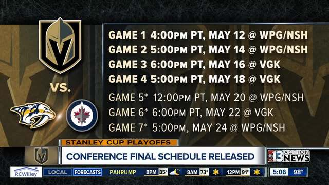 Golden Knights underdogs at Winnipeg for Game 1 of Western Conference Final