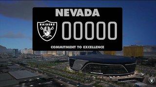PHOTO: Las Vegas Raiders license plate prototype