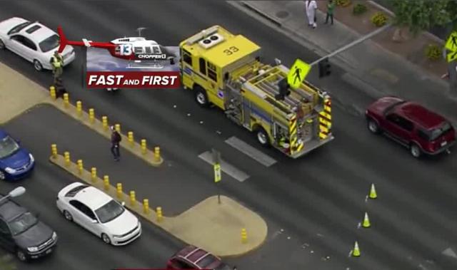 Mother, 3 children hit in crosswalk