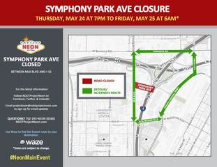 Symphony Park Ave. to close May 24-25