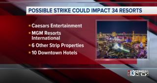 Las Vegas culinary union approves strike