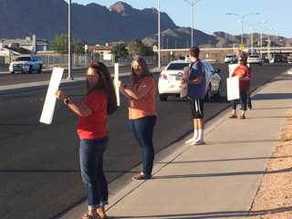 CCSD teachers rally in front of local schools