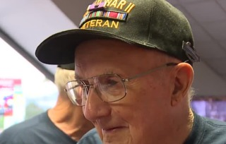 Military veterans were honored at baseball game