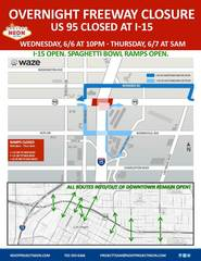 U.S. 95 to close at I-15 on June 6