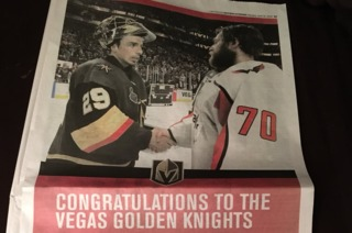 Capitals write classy message to Golden Knights