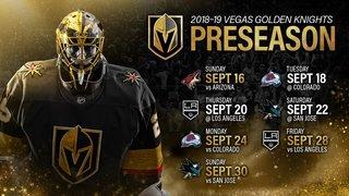 Vegas Golden Knights release preseason schedule