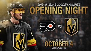 Golden Knights to play first home game on Oct. 4