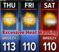 Excessive heat warning issued for Las Vegas