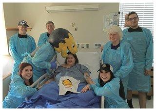 Chance visits 1 October survivor in hospital