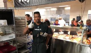 VGK prospects serve meals at Catholic Charities