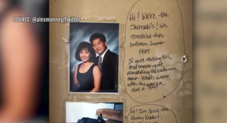 Couple finds message from 1995 inside wall