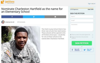 Petition to name school after Officer Hartfield