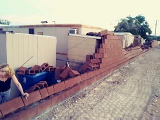 Block wall pummels properties after severe storm
