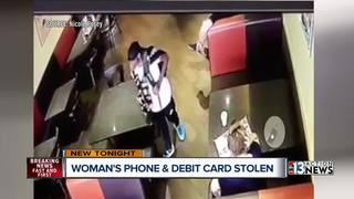 VIDEO: Cell phone stolen from restaurant table