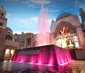Fountain glows pink to benefit Dress For Success