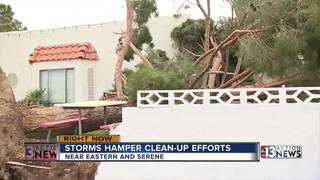 Continuing storms hinder clean-up efforts