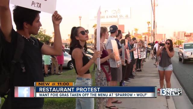 Animal advocates protest local resturant
