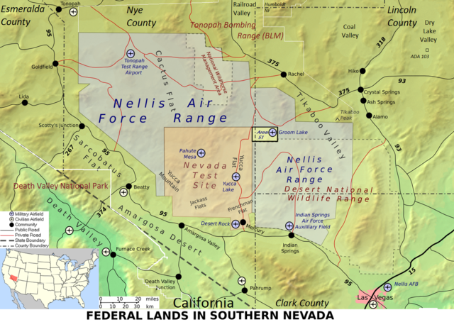 Wildfire Burns At Nevada National Security Site