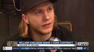 VGK's William Karlsson agrees to $5.25M contract