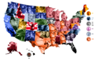 Map of each state's favorite movie from the 90s