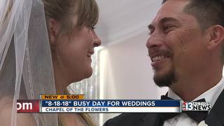 Couples marry on 'lucky date' 8-18-18