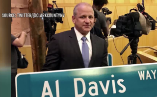 First 'Al Davis Way' street sign unveiled