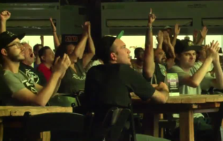 Raiders fans enjoy downtown viewing party