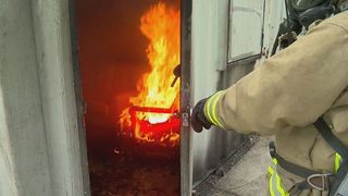 Fire test shows how fast home furniture can burn