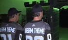 Twin brothers build Golden Knights man cave