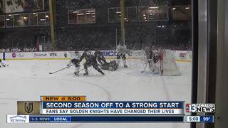 Golden Knights mark one year since first game