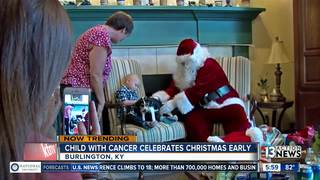 Christmas comes early for boy with brain cancer