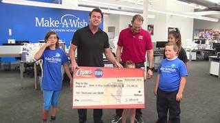 13 Action News presents check to Make-A-Wish