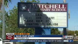 Schools turn to donations to save teaching jobs