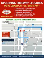 US 95 in Spaghetti Bowl to be closed overnight