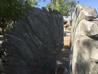 Angel wings sculpture honors 1 October victims