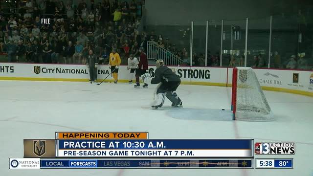 Public welcome to watch VGK practice