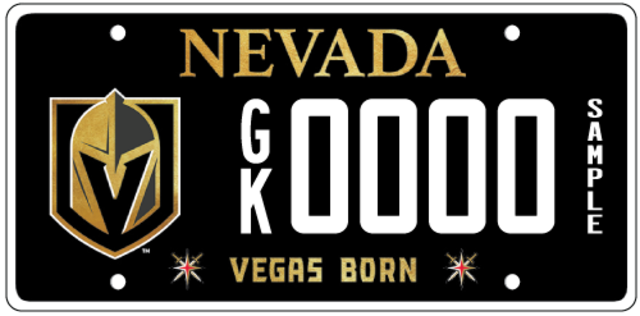 Vgk License Plates Now Available Goldenknights