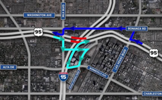 U.S. 95 closed at I-15 this weekend in downtown