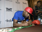 Floyd Mayweather meeting fans at Caesars Palace