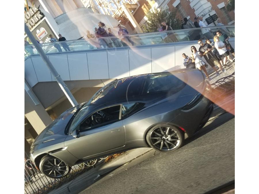 Viral Photos Show Aston Martin After Crash On Las Vegas Strip