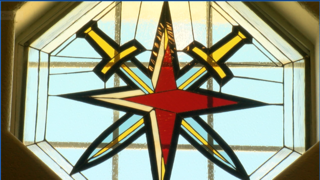 Stained glass artist inspired by Golden Knights